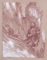 Boromir and the Statues of the Argonath by DonatoArts
