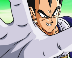"Vegeta ""no pity with scums"" by Bardock85"