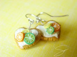 Citrus Love Earrings by xcalixax