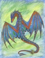 Watercolor Wyverex by R-Eventide