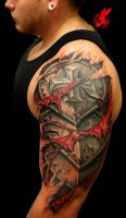 Armor Plate Skin Tear Out Tattoo by Jackie Rabbit by jackierabbit12