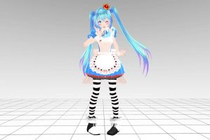 MMD Tda Miku Alice Download !! by InoriAruma