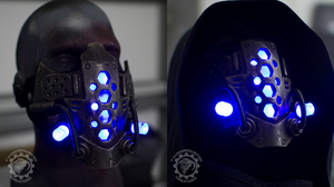 Xenogeist liquid energy v2. LED cyberpunk mask by TwoHornsUnited