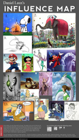 Danny's Artistic Influence Map by DanielLaux429
