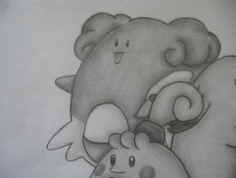 Blissey Drawing by sazmullium