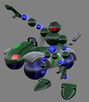 Vectorman and Polyrunner by lordvipes