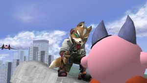 Kirby Rejects Fox's Gift by SmashBros2008