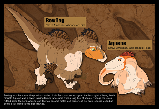 Rowtag and Aquene Reference Sheet by albinoraven666fanart