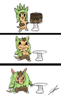 How Chespin evolves by Zixlesii