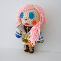Lightning Final Fantasy Theatrhythm Plushie by MadameWario