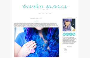 Evelyn Marie Blogger Template by candypow