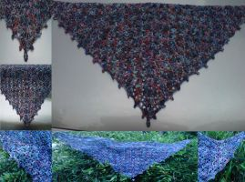 Hip Shawl pictures all together by crochetamommy