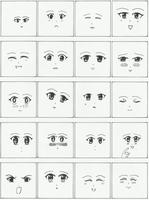 Manga Faces by RusimRedom