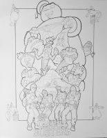 Pen Detail of the Real Ghostbusters by DannyNicholas