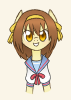 The Ponification of Haruhi Suzumiya by HowlsInTheDistance