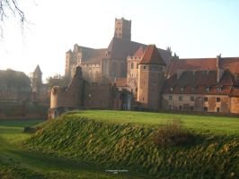 The Malbork Castle by bialy-motyl