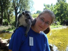 Ring-tailed lemur and me by Smok15