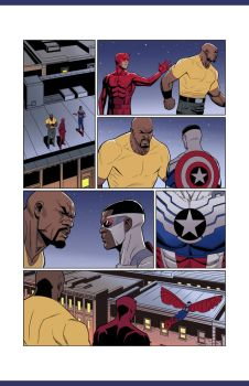 Daredevil Cap and Luke Cage pg 02 by NelsonBlakeII