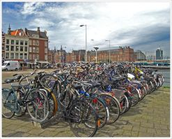 Streets of Amsterdam by Andrei-Joldos