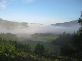 fog in the valley by Charon1