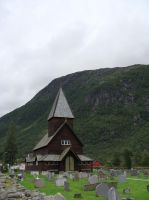 Stave Church by CanisDiabolos