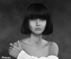 Bob haircut girl Sketch by JPerezS