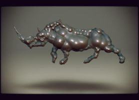 rhino by the-surreal-arts