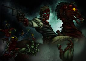 Red Dead Undead Painted by Kmadden2004