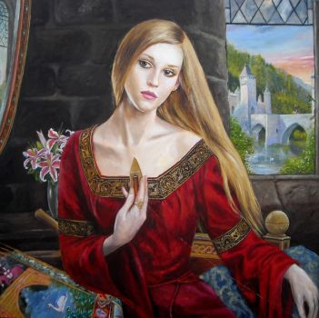 The Lady of Shalott by dashinvaine