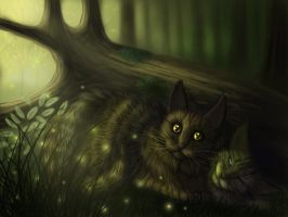 Brambleclaw and Hawkfrost by Sirmaril