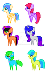 Mlp adopts CHEAP 2-4 PTS OPEN by PinkiePieKatLover