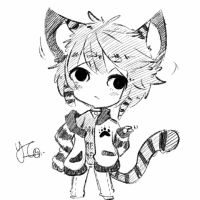 Chibi sketch Comm 5 by Yu-Tanni