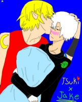 Tsuki and Jake by princess-haru44