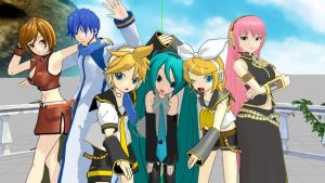 [MMD] Crypton Vocaloid Family by iMACobra