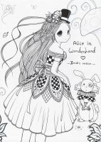 Alice in Wonderland .: 2 :. by zenab-tareef
