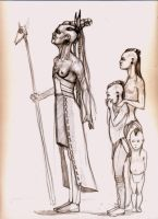 old matriarch and three youngsters by aryundomiel