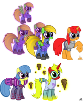 My OCs as Power Ponies by Bananers97