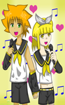 Vocaloids Ryan and Lire by NatsumeHirai