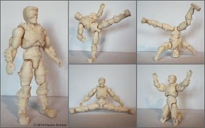 Dark Future Warrior 3D printed action figure. by hauke3000