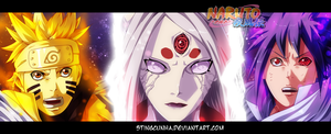 Naruto 679 - Naruto, Kaguya and Sasuke by StingCunha