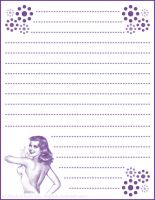 RainbowPinup Stationary Purple by HigHHalo
