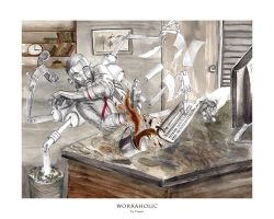 Workaholic by franciart