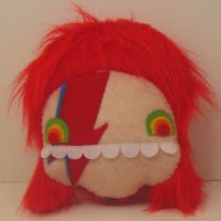 ZIGGY STARDUST MONSTER PILLOW by loveandasandwich