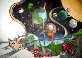 Chihuahua Farts a Universe. by CameronHarperArt