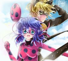 Miraculous LadyBug and Chat Noir by kiriche