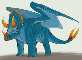 Triceratops-Dragon by Varatera