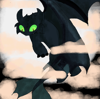 Toothless by aleaves