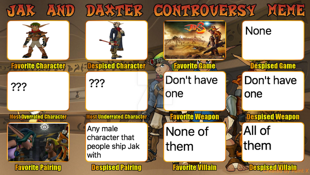 My Jak And Daxter Controversy by cameron33268110