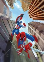 Spidey Cap Teamup by AndreaMeloni