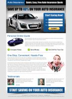 Auto Insurance Landing Page by semantic123